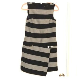 NWOT. Banana Republic Striped Asymmetrical Dress.